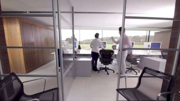 Large office team Timelapse people Royalty-free stock video