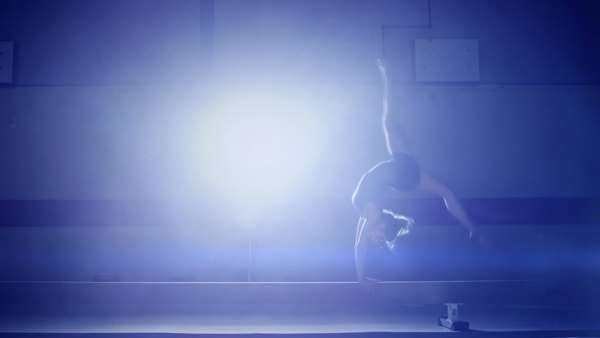 Male gymnast on pommel horse and doing a routine Royalty-free stock video