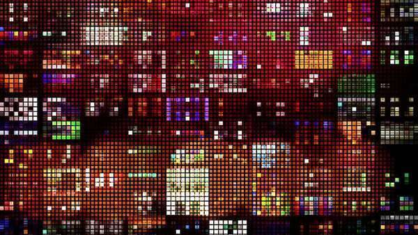 Colourful pattern of LED light squares Royalty-free stock video