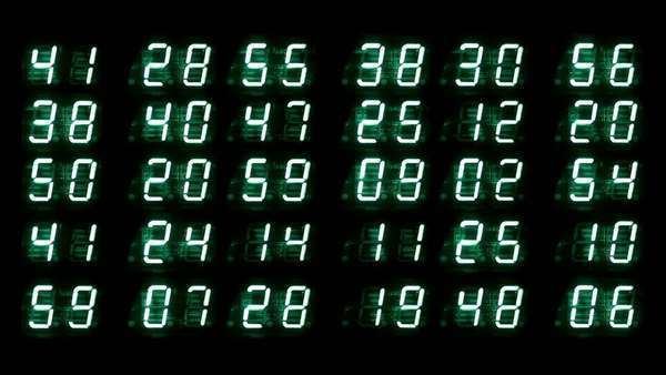 numerical digital display made from an LED clock counter Royalty-free stock video