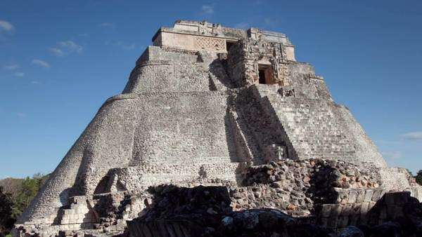 Timelapse of the Mayan ruins at Uxmal, Mexico. Royalty-free stock video