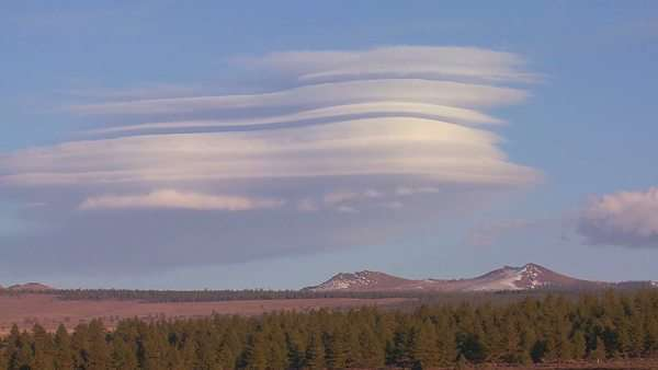 Amazing and rare timelapse shot shows the formation of lenticular clouds. Royalty-free stock video