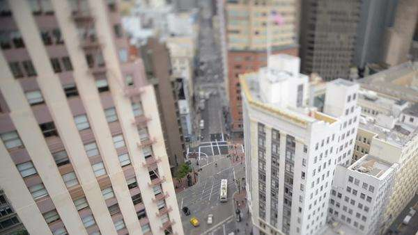 View of the San Francisco Streets from Above Royalty-free stock video