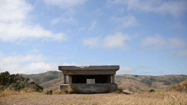 Pacific defense lookout bunker in San Francisco Royalty-free stock video