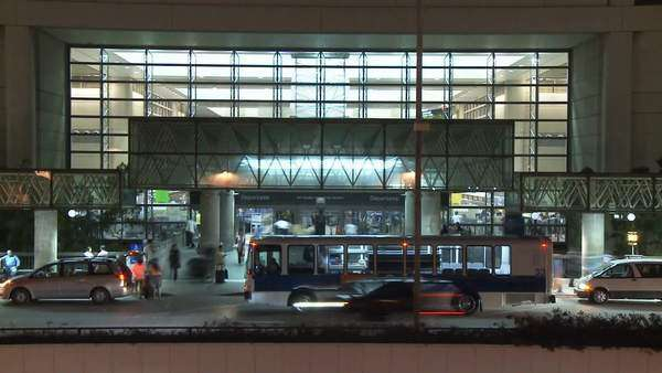 Shots of the LAX International Terminal in Los Angeles Royalty-free stock video