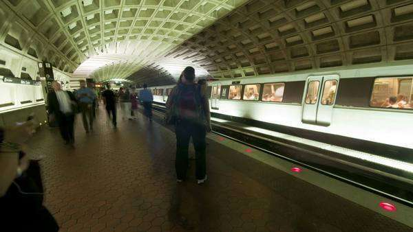 Timelapse of the Washington DC metro Royalty-free stock video