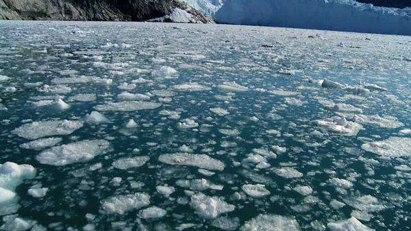 Melted glacial ice caused by climate change Royalty-free stock video
