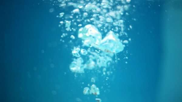 Head and shoulders of naked women holding breath to go underwater Royalty-free stock video