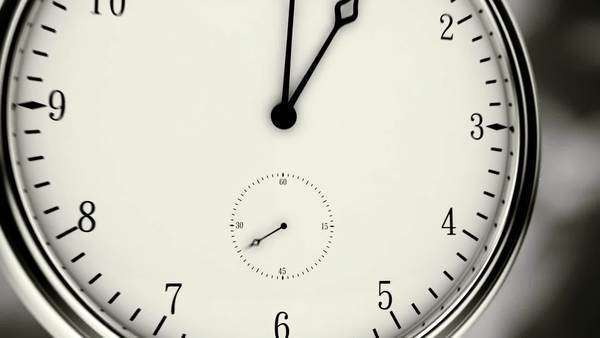 Animation of modern clock Royalty-free stock video