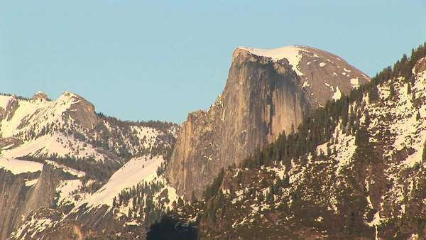 Long-shot of Half Dome in Yosemite National Park. Royalty-free stock video