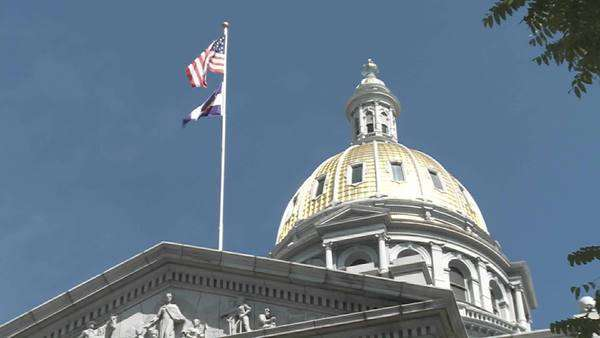 The State Capital building in Denver Colorado. Royalty-free stock video