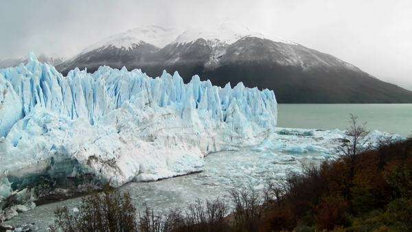 A wide shot of a massive glacier. Royalty-free stock video