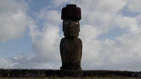 Timelapse of the mystical statues of Easter Island. Royalty-free stock video