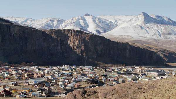 The town of El Chalten in one of the most remote regions of Patagonia. Royalty-free stock video