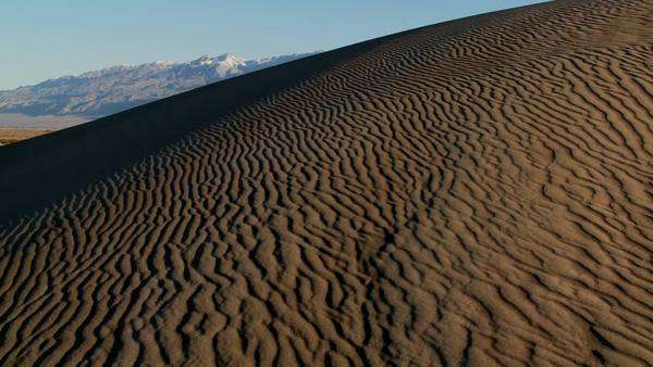 Rippled desert dunes in Death Valley. Royalty-free stock video