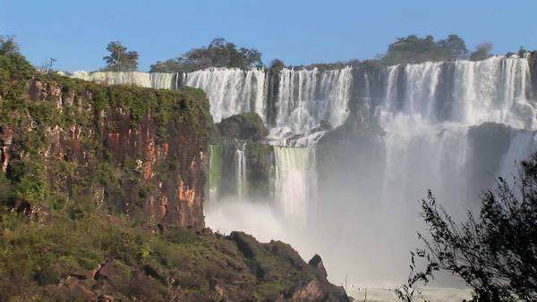 A wide shot ofIguacu Falls. Royalty-free stock video