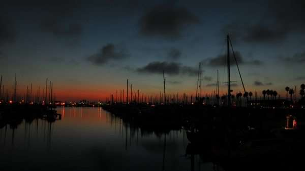 Timelapse of a harbor during sunset. Royalty-free stock video