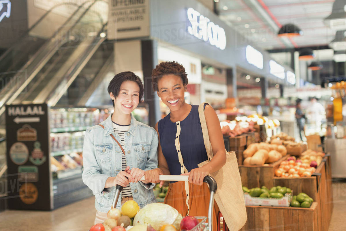 Lesbians in grocery store