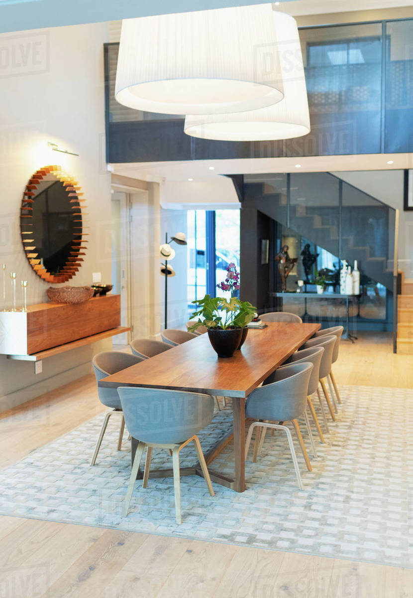 Modern home showcase interior dining room Royalty-free stock photo