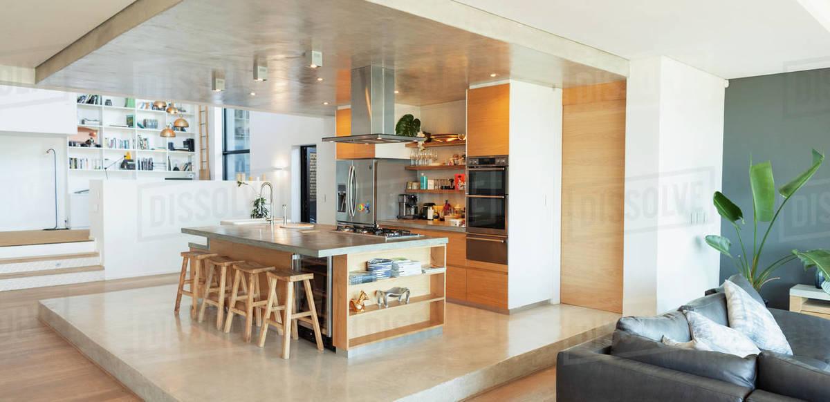 Modern home showcase kitchen Royalty-free stock photo