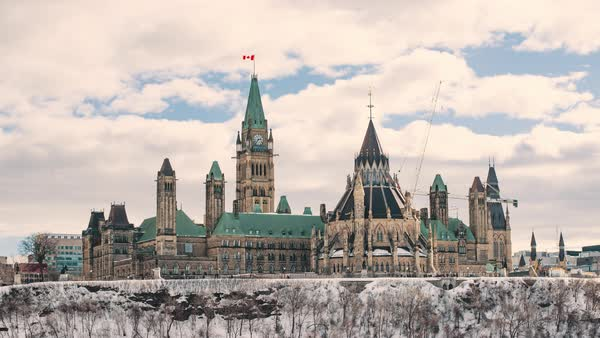 Timelapse  of Ottawa, Canada - The Parliament of Canada  Royalty-free stock video