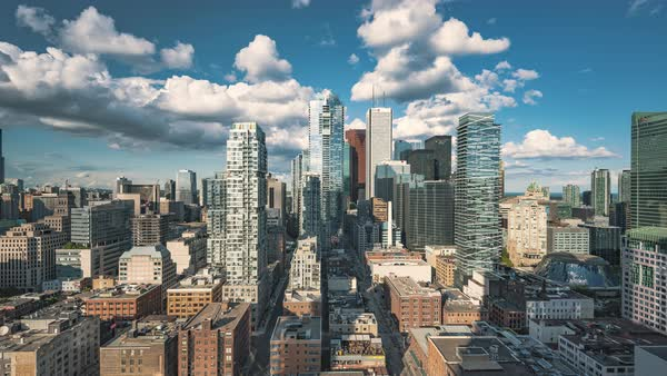 Timelapse Toronto, Canada - Downtown Toronto at Daytime Royalty-free stock video