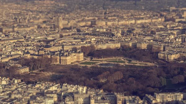 Timelapse of Paris, France - The Jardin du Luxembourg Royalty-free stock video