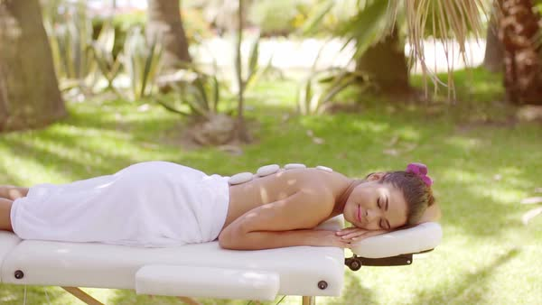 Sexy girl on massage table, hot naked girl teacher big tits