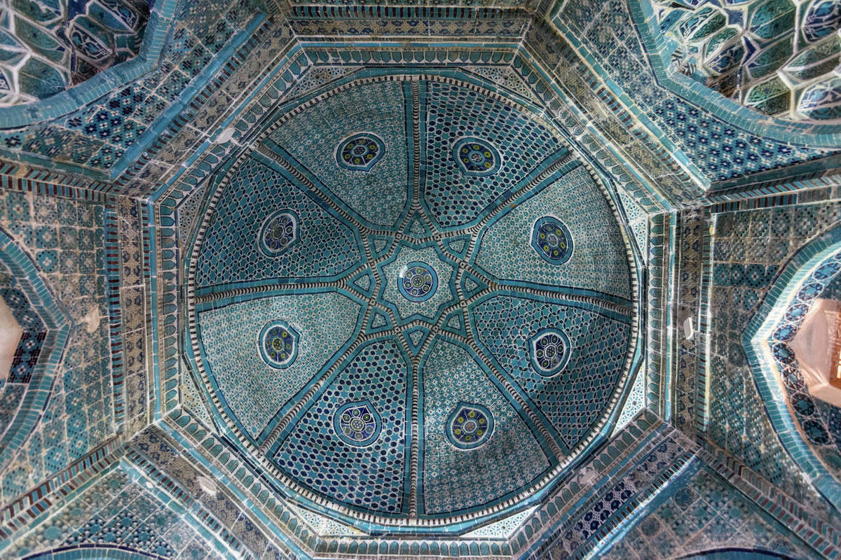 A Dome And Patterned Mosaic Tile Arches