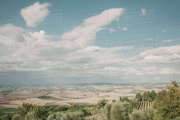 Rolling hills in the countryside Royalty-free stock photo