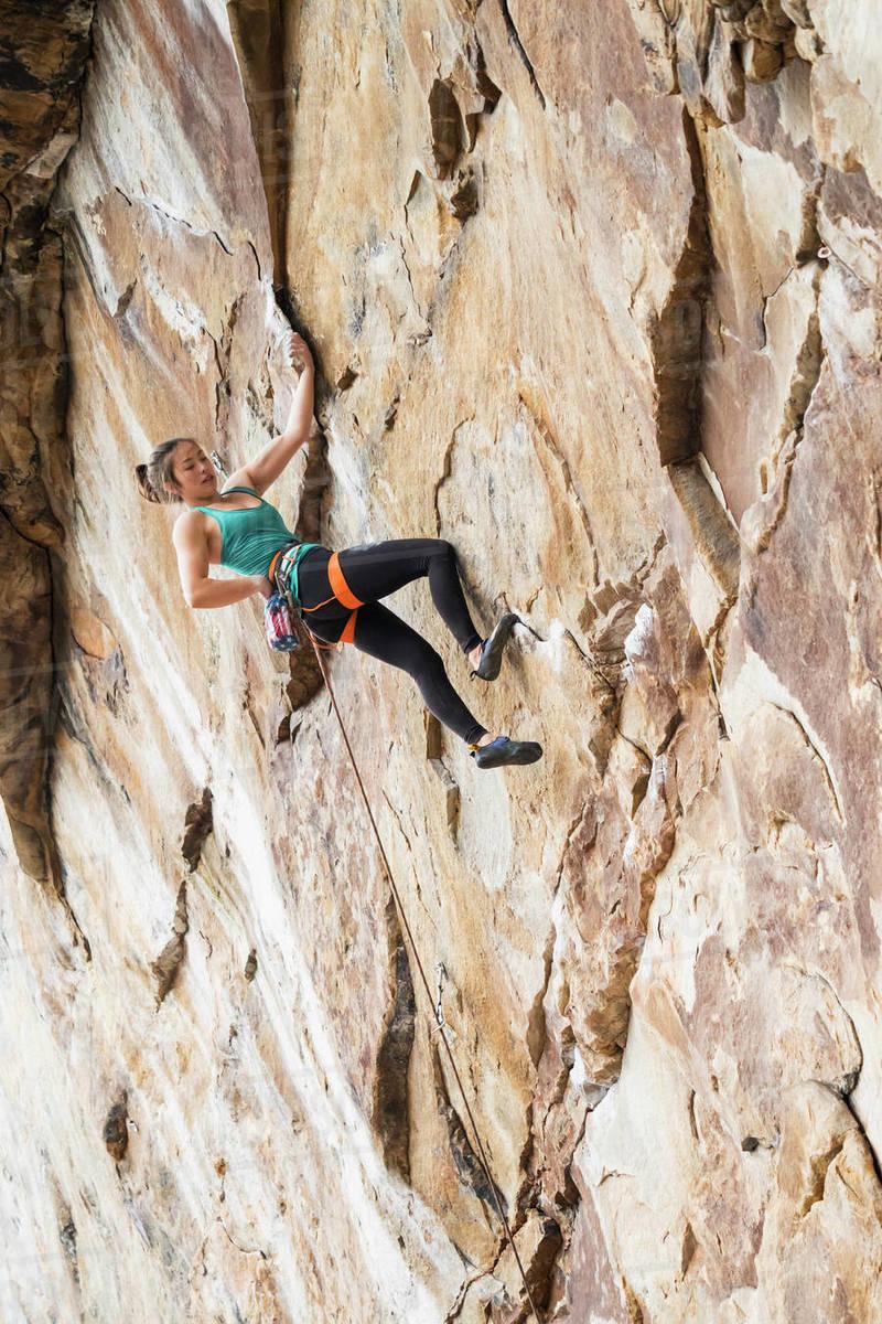 Female Rock Climber Stock Photos - FreeImages.com