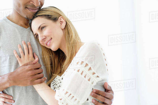 Mid adult couple embracing Royalty-free stock photo