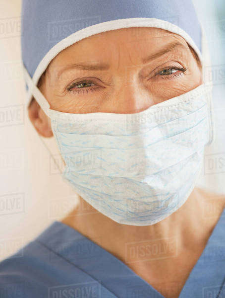 Portrait of female surgeon Royalty-free stock photo