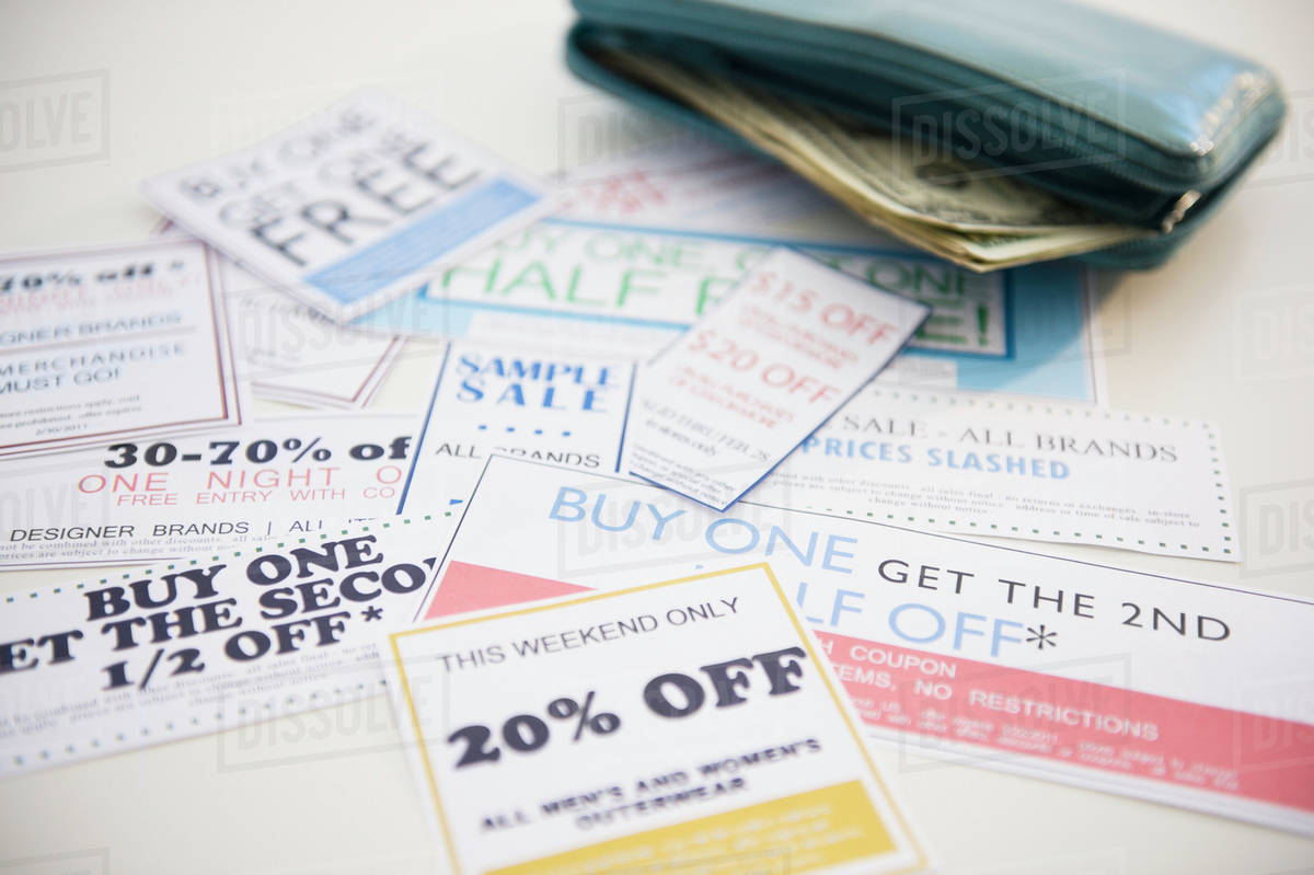 wallet and discount offer leaflets