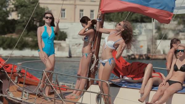 sexy girls sailing