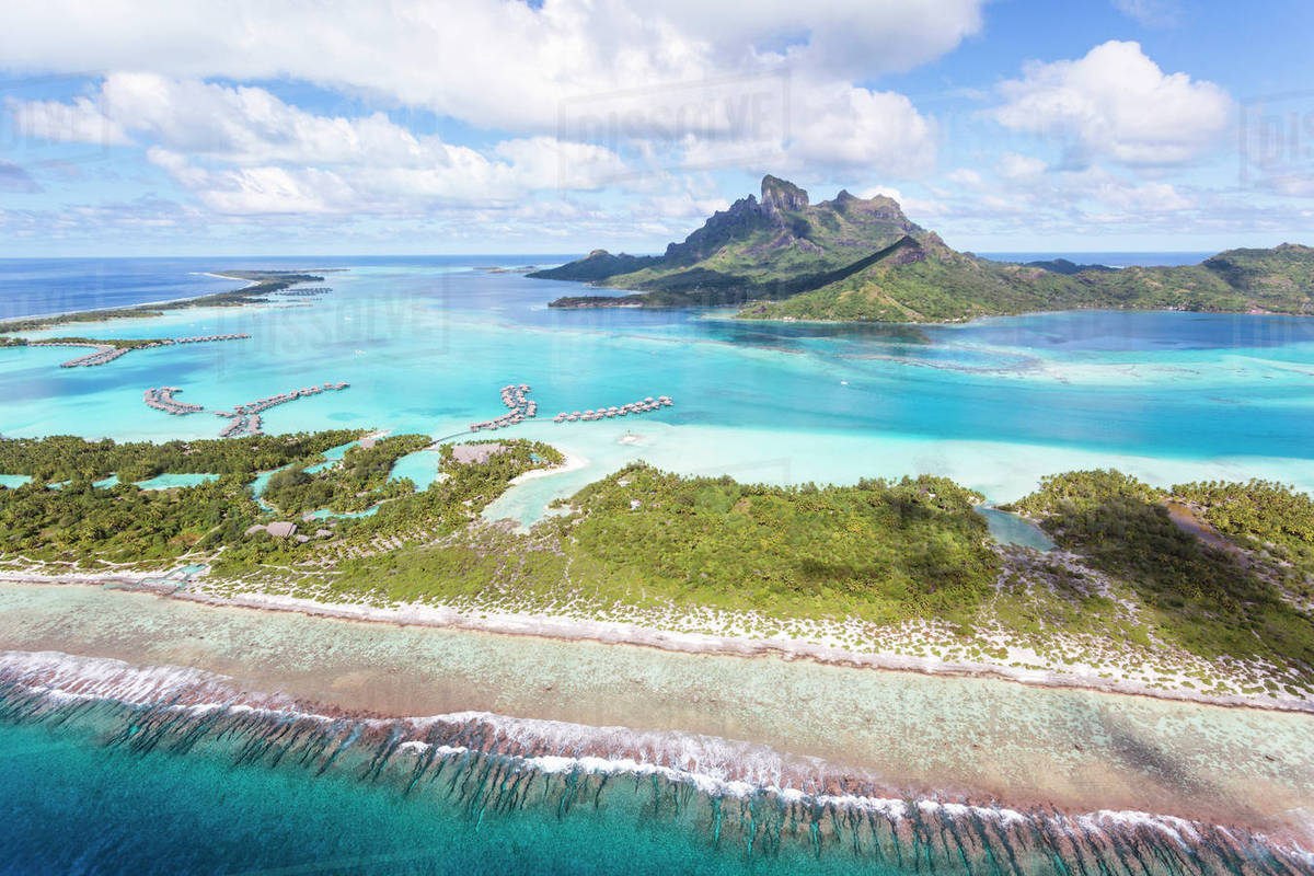 Aerial View Of Bora Bora Island D1061 121 134