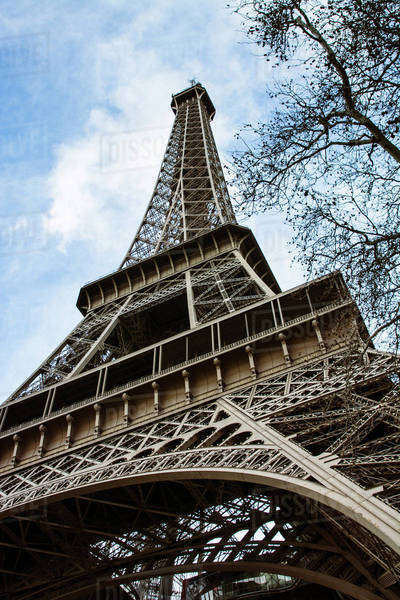 Low angle view of Eiffel Tower Royalty-free stock photo