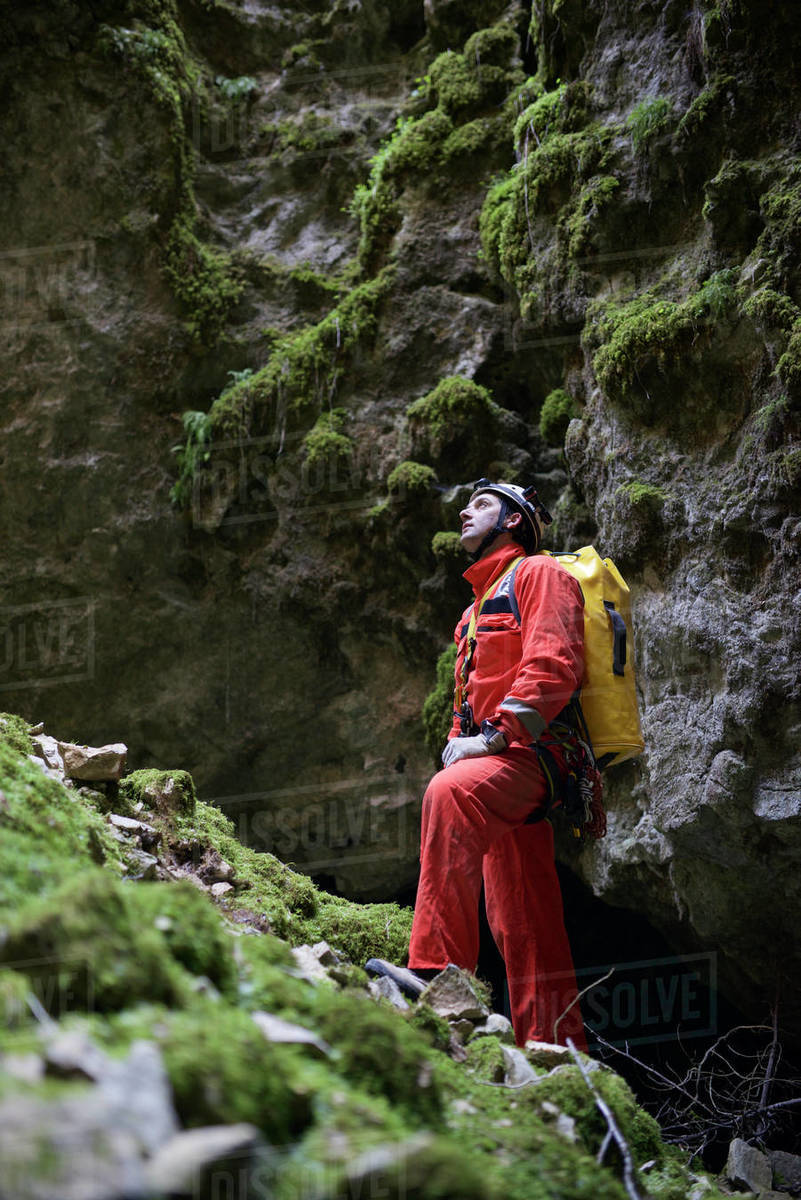 Caving in Spain Royalty-free stock photo