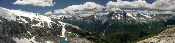 Panoramic view of snowcapped mountains against sky Royalty-free stock photo