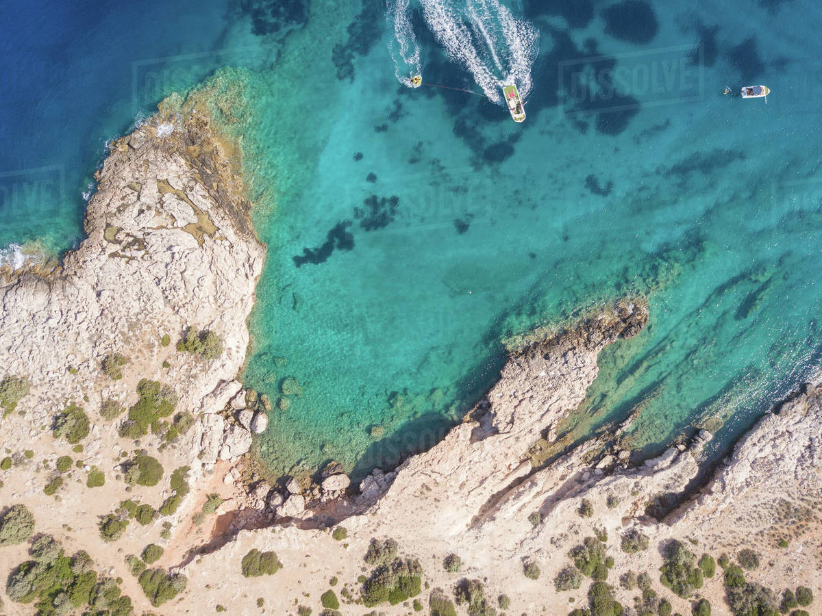 Aegean sea from above, Greece Royalty-free stock photo