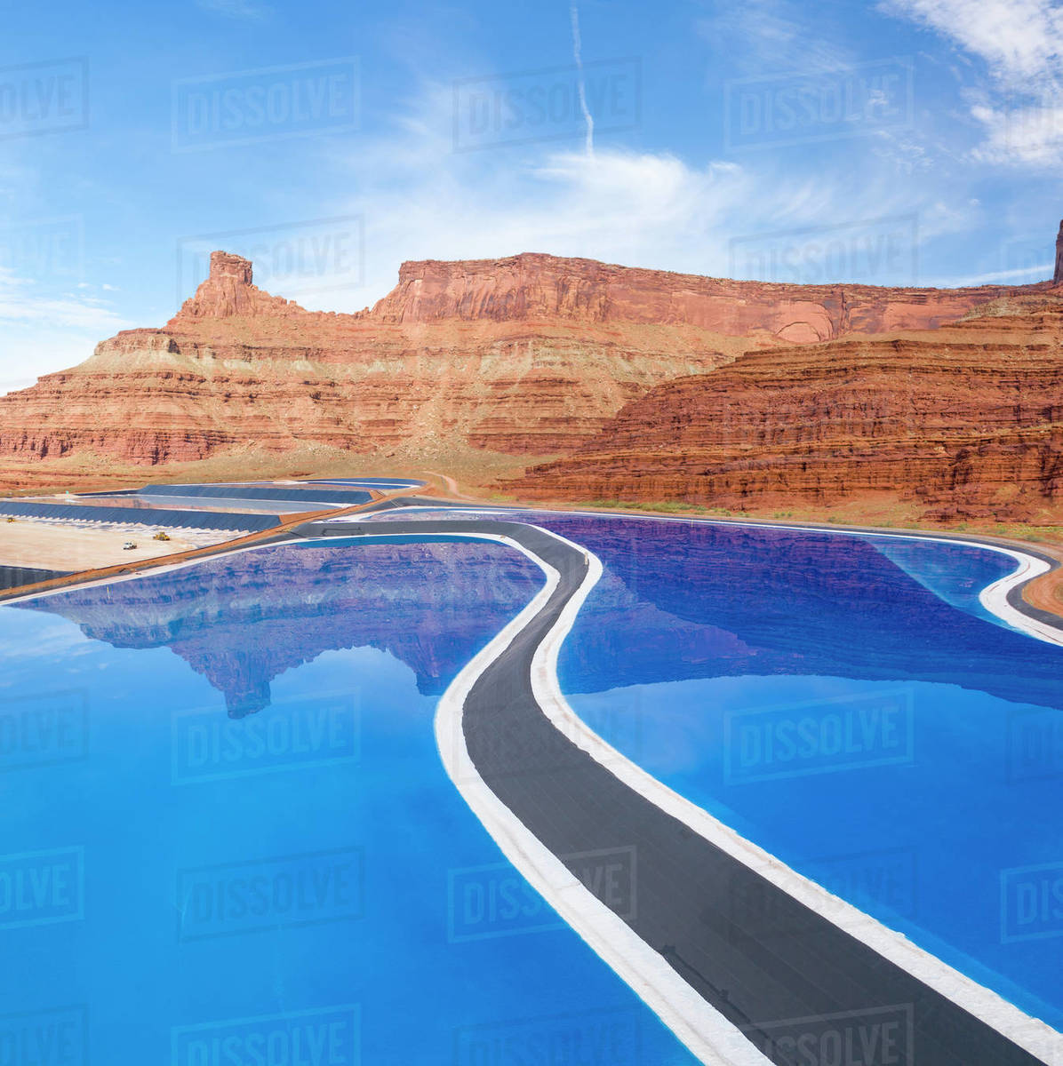 A Potash Mining Operation in Canyonlands National Park Royalty-free stock photo