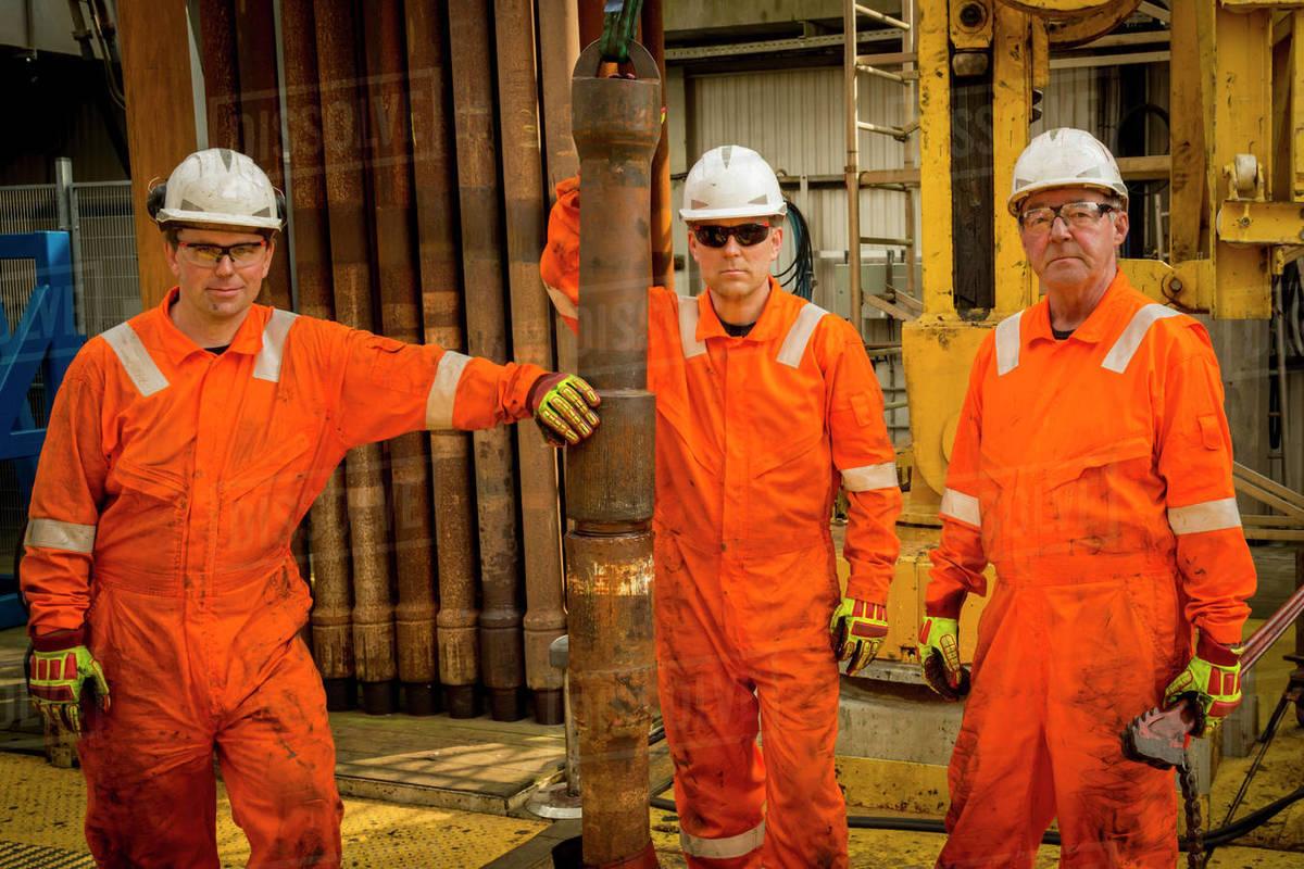 STAVANGER NORWAY OIL RIG WORKERS Royalty-free stock photo