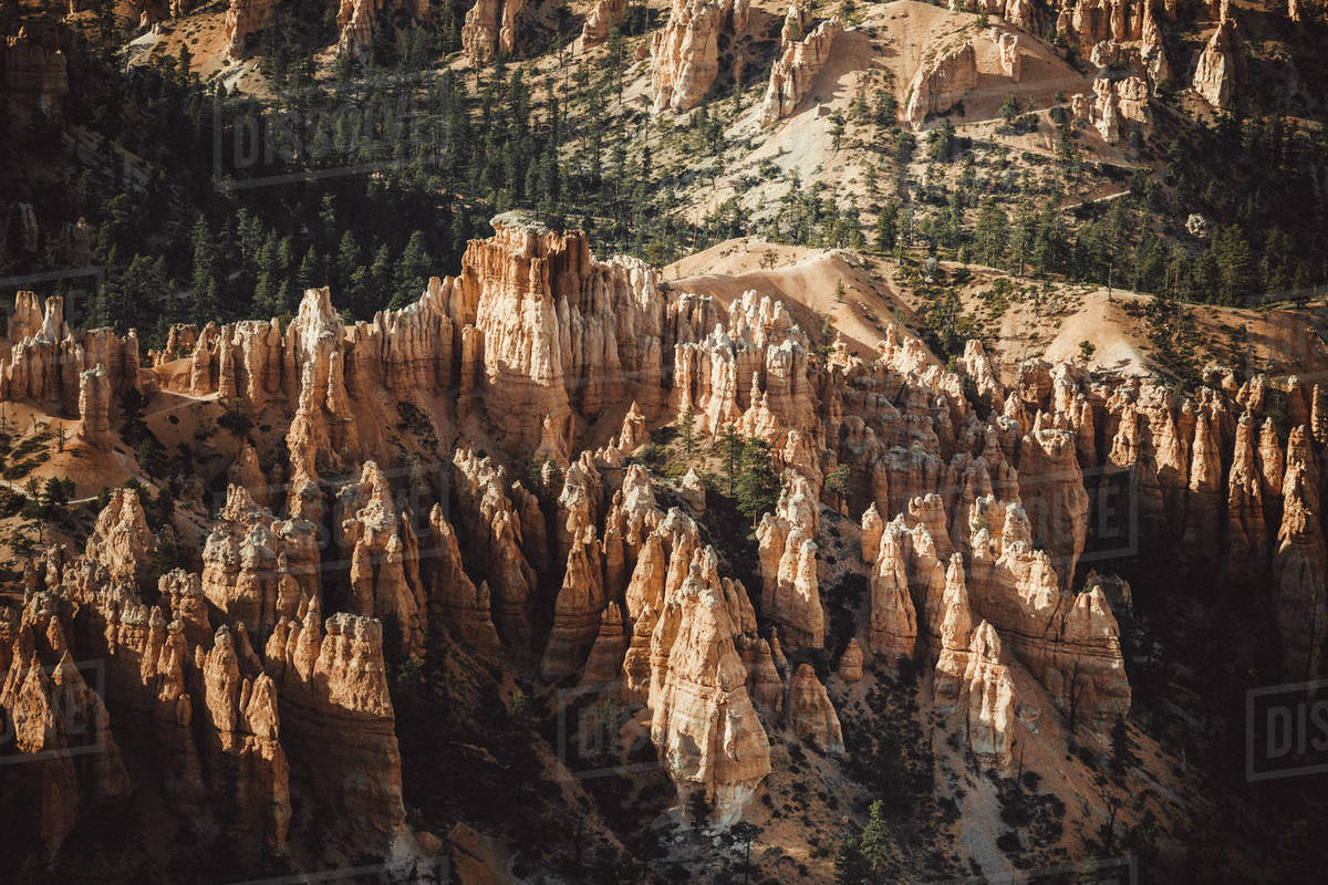 Bryce Canyon from Bryce Point at sunset Royalty-free stock photo