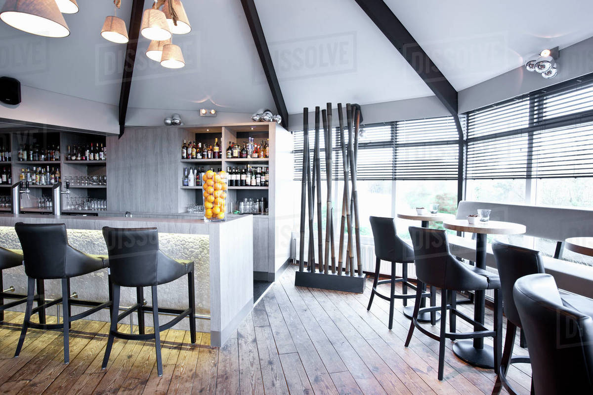 Bar at luxury hotel in the Netherlands Royalty-free stock photo
