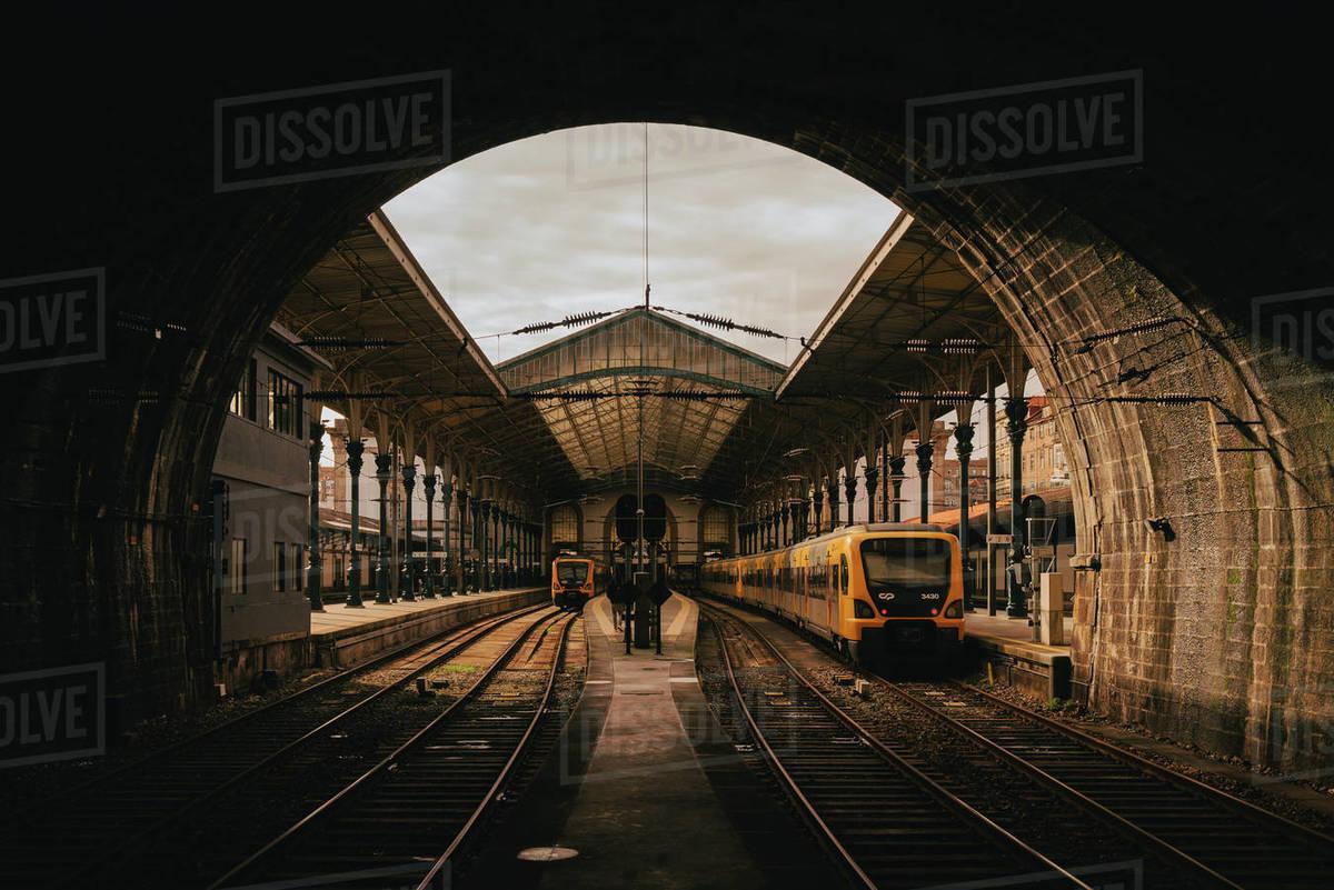 Train Station in Porto, Portugal. Royalty-free stock photo