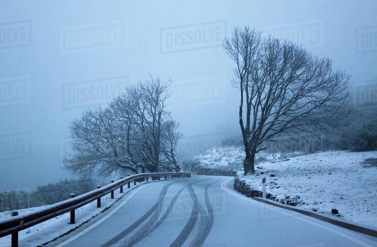 Snowy summit landscape, Gran Canaria, Spain Royalty-free stock photo