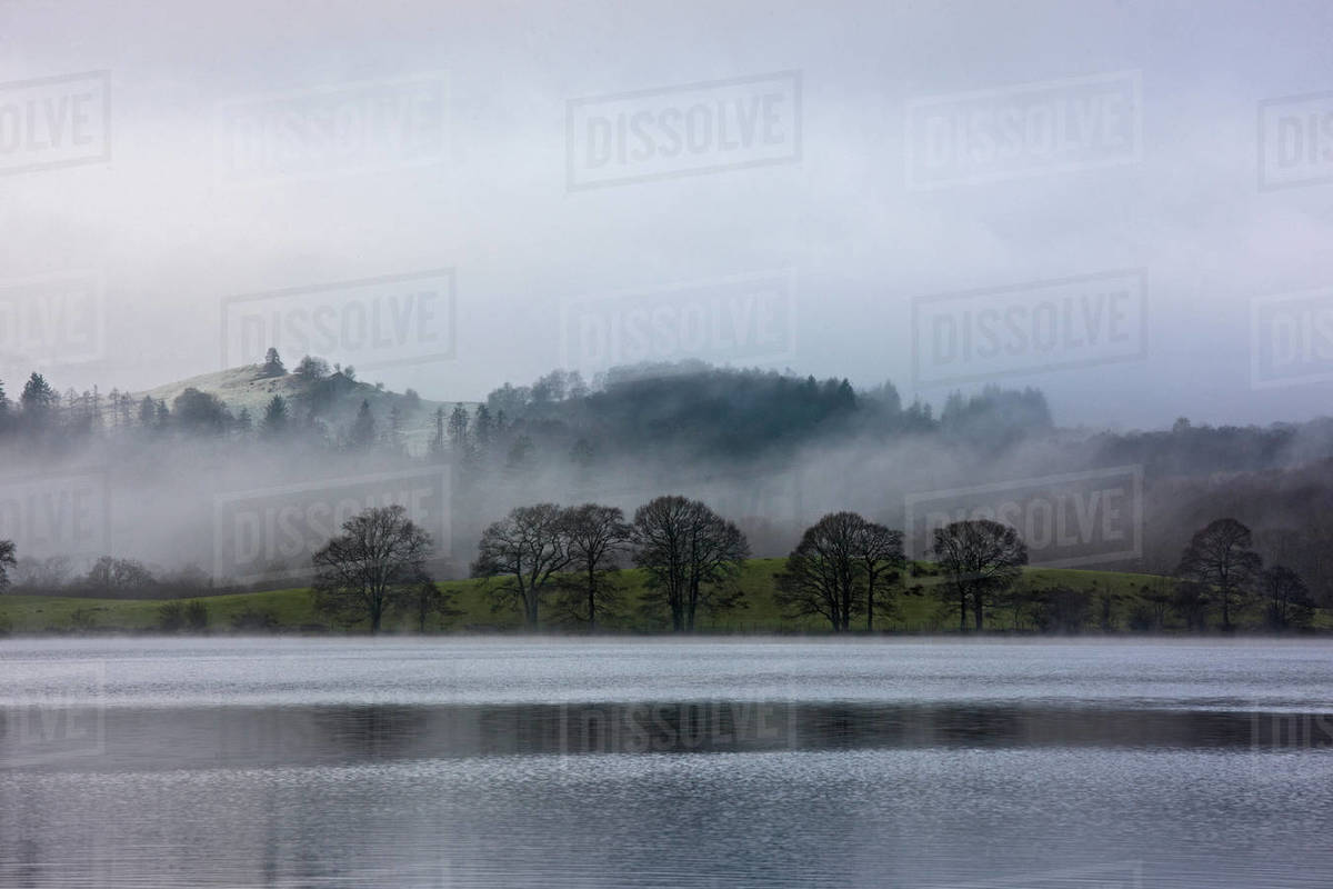 Scenic view of lake Windermere in the British Lake District Royalty-free stock photo