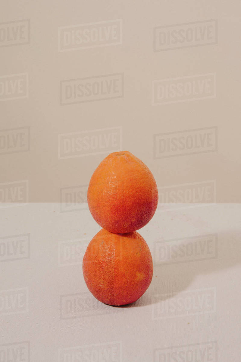 Stacked Blood Oranges Still Life Royalty-free stock photo