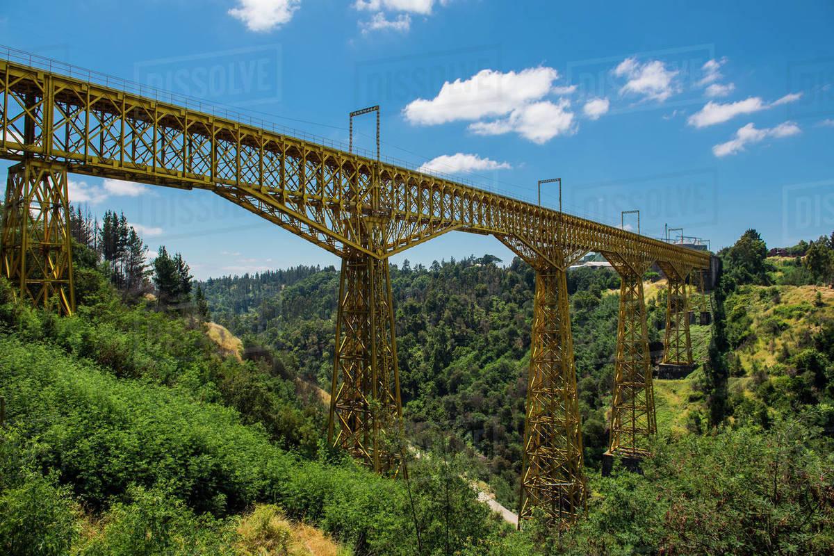 Puente Malleco, a railway bridge from 1890, Collipulli, Araucania Royalty-free stock photo