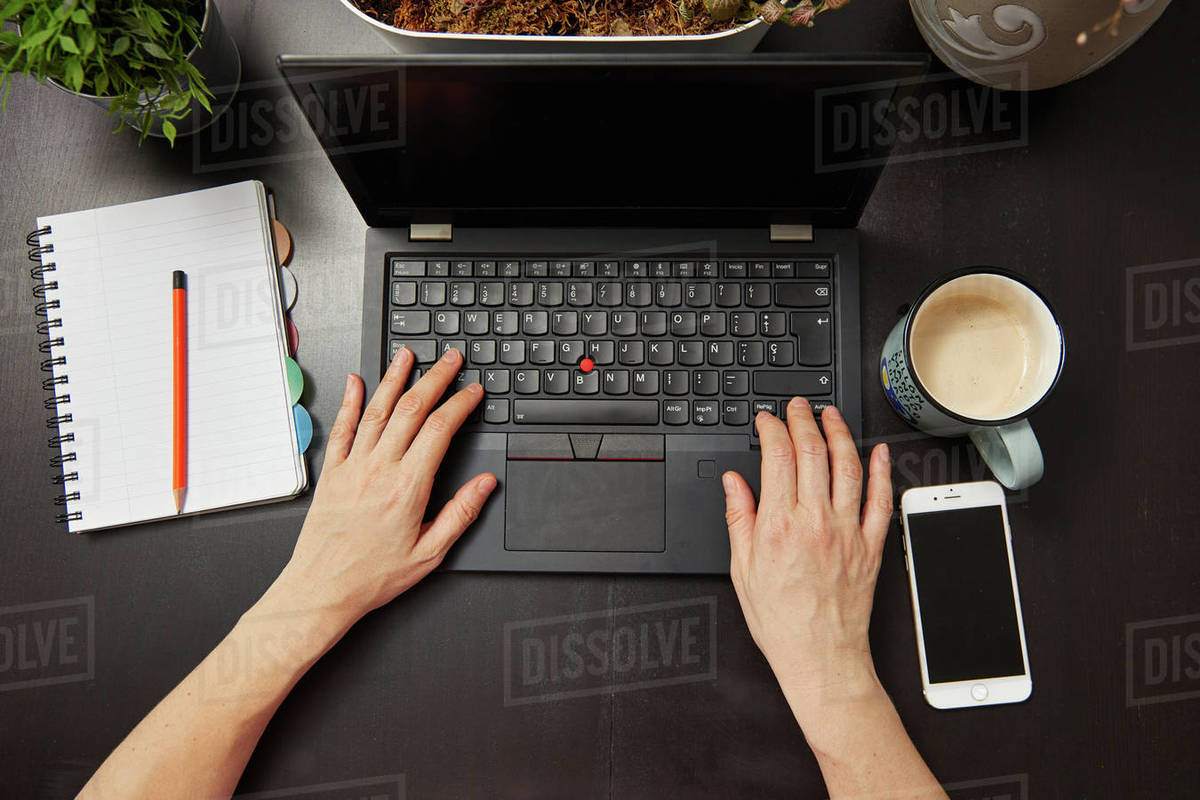Tele work area at home Royalty-free stock photo